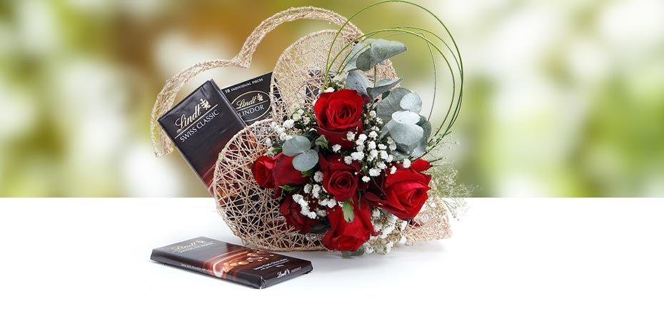 Diwali Flowers With Chocolates