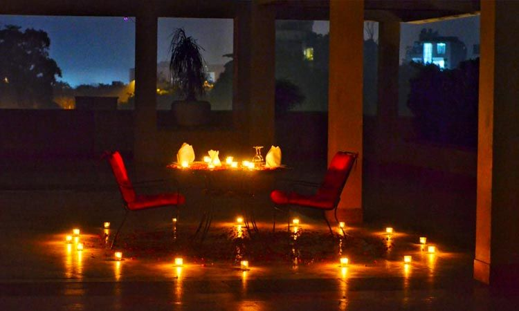 Rooftop Candlelight