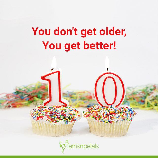 10 year birthday quotes