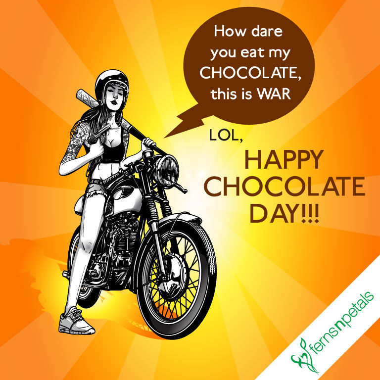 funny happy chocolate day wishes