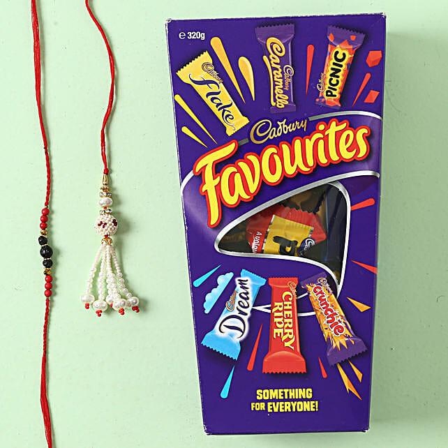 Family Two Rakhi Set with Cadbury Favourite