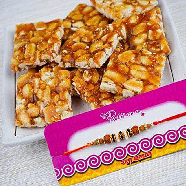 Rakhi With Premium Peanut Chikki