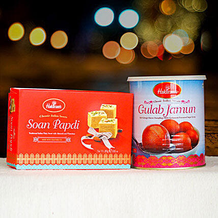 Soan Papdi and Gulabjamun Tin