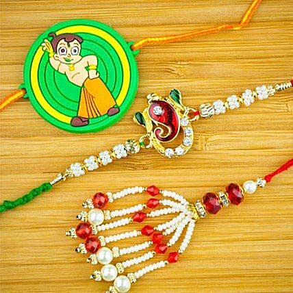 Three Family Rakhi Set