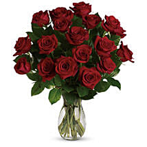 18 Red Roses Bouquet: Order Flowers Adelaide