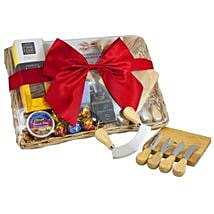Cheese Set Picnic Basket: Easter Gifts to Australia
