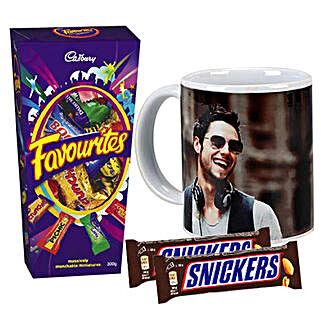 Chocolates With Personalised Mug Combo: Send Chocolates to Australia