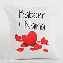 Couple Love Forever Personalized Cushion: Personalised Gifts Australia