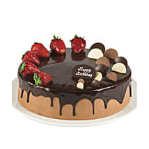 Double Chocolate Strawberry Cake: Send Birthday Gifts to Brisbane