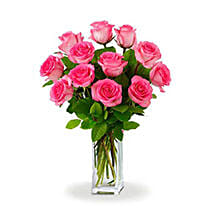 Dozen Pink Roses: Send Flowers to Brisbane Australia