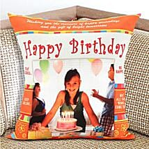 Happy Birthday Personalized Cushion: Send Personalised Gifts to Australia