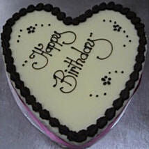 Heart Shaped Boston Mud Cake: Valentine's Day Cake Delivery in Australia
