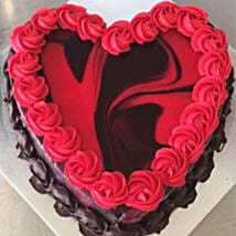 Heart Shaped Red Marble Cake: Birthday Cake Delivery in Australia