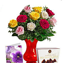 Long Stemmed Mixed Roses Combo: Rose Delivery in Australia