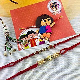 Lovely Family Rakhi Set: Rakhi for Kids Australia