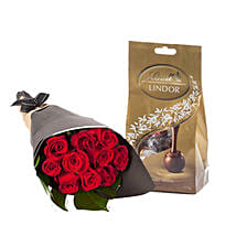 Lovely Red Roses With Chocolates: Sending Chocolates to Australia