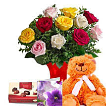 Mixed Roses Valentine Combo: Valentine's Day Gift Delivery in Australia