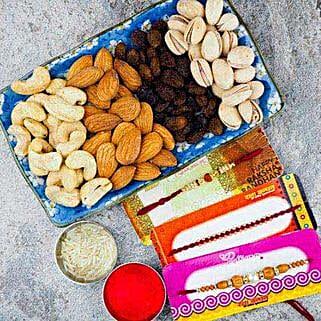 Pavitra Rishta Three Rakhi set With Dry Fruit: Rakhi to Adelaide