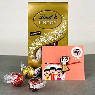 Pyar Ka Rista Rakhi With Lindt chocolates: Rakhi with Chocolates to Australia