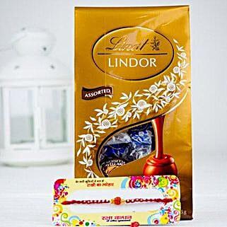 Rakhsa Rakhi With Lindt Chocolate: Rakhi to Adelaide