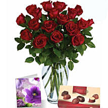 Red Roses N Chocolates Combo: Anniversary Roses in Australia