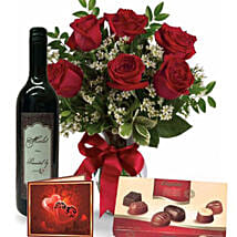 Roses Wine N Chocolate Combo: Thanks Giving Gifts to Australia