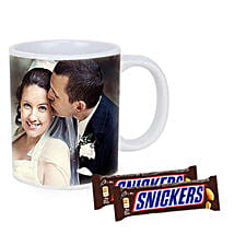 Snickers With Personalised Mug Combo: Fathers Day Gifts to Australia