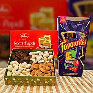 Soan Papdi Mix Dry Fruit and Cadbury Favourites: Sending Chocolates to Australia