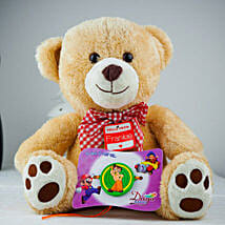 Super Kids Rakhi With Teddy: Send Rakhi to Adelaide