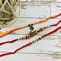 Veera Three Rakhi Set: Set of 3 Rakhis to Australia