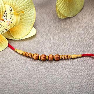 Wooden Beads Rakhi: Send Rakhi to Bangladesh