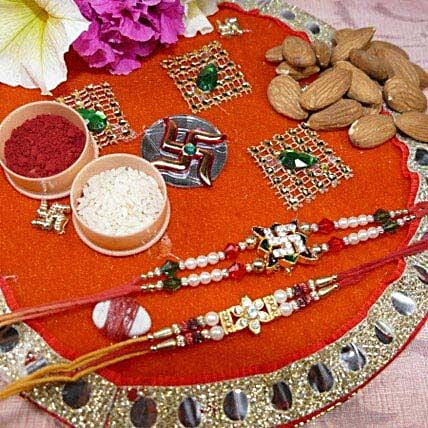 Amazing Set Of Two Thali With Almond