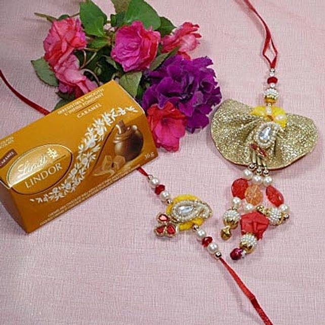 Beautiful Bhaiya Bhabhi Rakhi Lindt Lindor