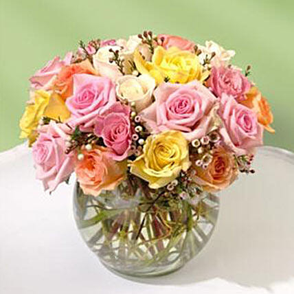 Beautiful Bowl of Roses