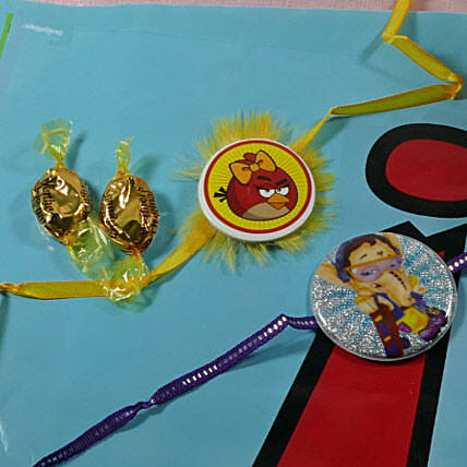 Kids Rakhi Set of Two with Candy