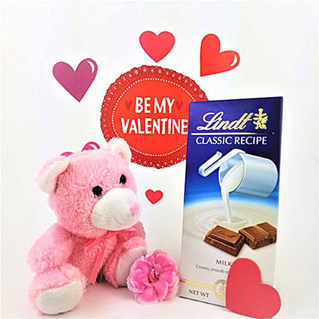 VDay Chocolate N Teddy Combo