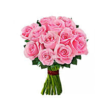 12 pink roses: Send Flowers to Brampton