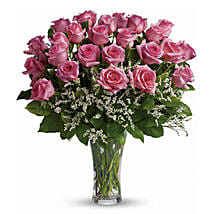24 Pink Roses: Send Birthday Flowers to Canada