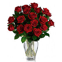 24 Red Roses in Vase: Birthday Flowers Delivery in Canada