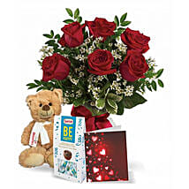 6 Red Roses Combo: Send Birthday Flowers to Canada