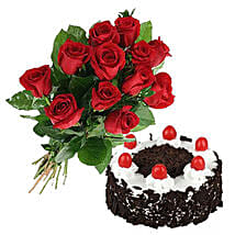 Black Forest Cake N Roses: Valentines Day Flowers Canada