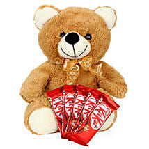 Brown Teddy N Chocolate Combo: Romantic Gifts to Canada