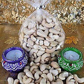Cashew Nut Rich Diyas: Diwali Gift Delivery Canada