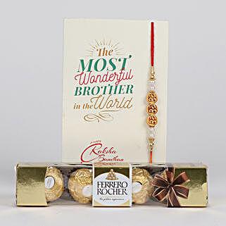 Charming Rakhi With Ferrero Rocher: Rakhi Delivery in Canada