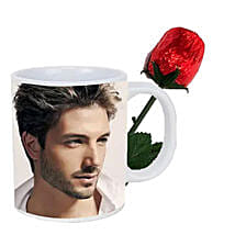 Choco Rose and Personalized Mug Combo: Personalized Gifts Canada