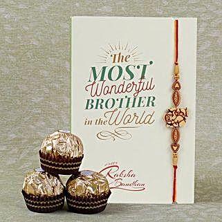 Designer Rakhi And Ferrero Rocher: Rakhi for Brother to Canada