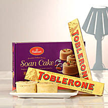 Duo Toblerone Bars N Soan Cake: Chocolate Delivery Canada