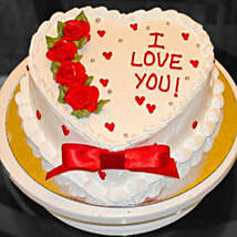 Eggless Valentine Heart Cake: Heart Shaped Cakes Delivery Canada