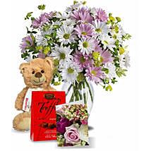 Flowers With Chocolate N Teddy: Valentine's Day Chocolates in Canada