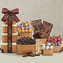 Godiva Chocolate Holiday Gift Tower: Send New Year Gifts to Canada